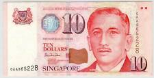 Singapore Portrait Series $10 0AA Lucky No. 865228