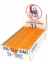 Zig Zag Cigarette Rolling Papers 24 Packs- 32 Papers a Pack- Orange 1.25 1 1/4