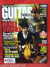 GUITAR WORLD MAGAZINE AVENGED SEVENFOLD COHEED AND CAMBRIA SERJ TANKIAN 2007