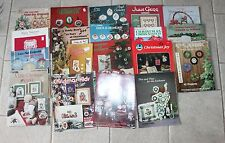 Lot of 18 Vintage Cross Stitch Pattern Leaflets Books Holidays Christmas Easter
