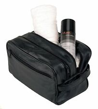 NEW MENS SOFT LEATHER TOILETRY TRAVEL WASH BAG TRAVEL KIT OVERNIGHT GIFT ML5214
