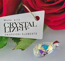 PENDANT SWAROVSKI ELEMENTS ALMOND CRYSTAL AB 16mm STERLING SILVER 925