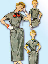 1950s Vintage Simplicity Sewing Pattern 4523 Uncut Misses Day Dress Size 32 Bust