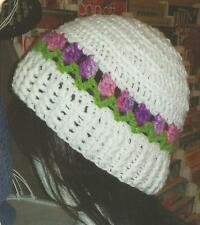 Crochet Pattern ~ LADIES TULIP BEANIE Hat ~ Instructions