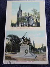 1912 The Gesu Church & Soldiers' Monument in Milwaukee, Wi Wisconsin PC
