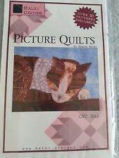 """Malec Designs Sewing pattern Picture Quilts Cat Nap 11"""" X 9"""""""