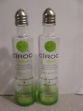 Pair CIROC Apple Vodka Mini Liquor 50ml Bottles UpCycled SALT & PEPPER Shakers