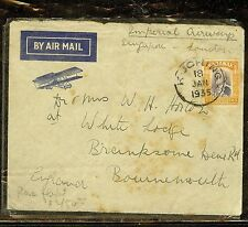 SARAWAK (P1106B) 1935 IMPERIAL AIRWAYS FLIGHT SINGAPORE-LONDON FROM KUCHING RARE