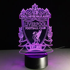 EPL Liverpool Club 3D illusion Night Light 7 Color Changing LED Desk Table Lamp