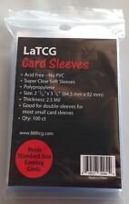 100 LaTCG Clear Pokemon/MTG Card Soft Sleeves/Small Deck Protector Sleeve Covers