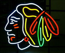 "Chicago Blackhawks Stanley Cup Hockey NHL Neon Light Sign 17""x14"""