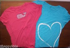 EUC Women's Lot of 2 Summer Tshirts Shirts Tops Whale Heart XL Extra Large