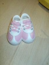 PINK BABY SHOES CAKE DECORATION