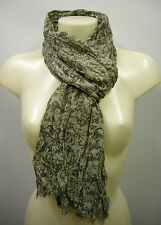 Pashmina sciarpa scarf SWEET YEARS a.LF39 col.3 verde green teschio skull Italy