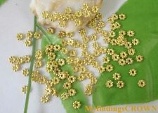 700PCS Gold plated daisy spacer beads 5mm W302
