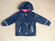 LUPILU Girls Wind & Water Resistant Fleece Lined Coat Age 2-4 Years Ex.Cond