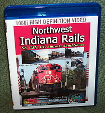 "20295 BLU-RAY HD TRAIN VIDEO ""NORTHWEST INDIANA RAILS"" NS, CSX, CP, AMTRAK"