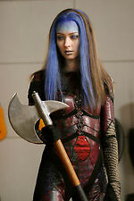 Amy Acker 8x10 in warrior armour and battlew ax