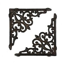 "Set of 2 Decorative Cast Iron Shelf Brackets - 5.75"" x 5.75"" #90S"