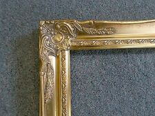 Picture Frame- Vintage Bright & Dark Gold Antique Ornate Classic-678G-   12x16