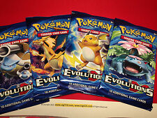 4 x Pokemon XY Evolutions Booster Packs (10 Cards/pack) - Factory Sealed