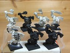 8 CLASSIC METAL BLACK ORCS PART PAINTED (1521)