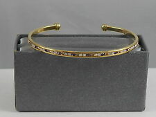 Belk NEW DIRECTIONS Goldtone Channel Set Pastel Cubic Zirconia Cuff Bracelet