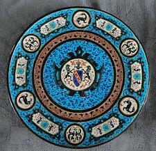 Grand plat Bordeaux Vieillard décor aux armoiries 35 cm
