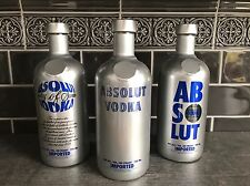 ABSOLUT VODKA 4th CHROME SET * FRANCE * LEER / EMPTY * CONDITION ON PICS *