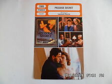 CARTE FICHE CINEMA 1985 PASSAGE SECRET Dominique Laffin Franci Camus F.Siener