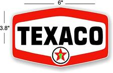 "6"" TEXACO GASOLINE DECALS GAS AND OIL"