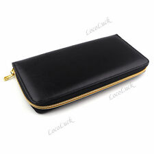 Pro Barber Scissors Case Hairdressing Shears Holder Pouch PU Leather Zipper Bag