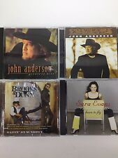 Lot Of 4 Country CDs John Anderson Sara Evans Brooks & Dunn 1990's-2000's VG 1