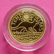 2009 AUSTRALIA KEN DONE DESIGN  KANGAROO  1/10TH  GOLD PROOF COIN BOX AND COA