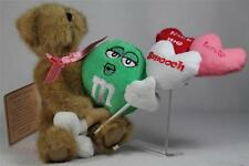 Boyds Bears & M & M's Plush 'Smooches' With Green #9190002 RET. NEW With Tags