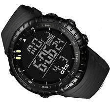 Men Military Stainless Steel Analog Digital Date Sport Wrist Watch With Box Gift