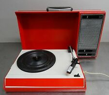Vintage portable record player - Tragbarer Party Plattenspieler Philips ~ 60er