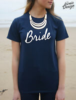Bride T-shirt Top Wedding Hen Party Gift Married To Be Mrs