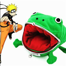 Naruto Kunai Ninja Weapon Frog Shape Cosplay Coin Purse Wallet Soft Furry Gift T