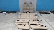 BMW 3 SERIES E90 Beige Leather Interior Seats with Airbag and Door Cards