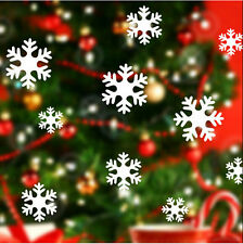 White Snow Snowflake Frozen Decal Window Wall Sticker Vinyl Art Christmas Decor