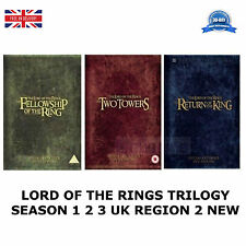 LORD OF THE RINGS TRILOGY EXTENDED EDITION SEASONS 1 2 3 UK REGION 2 DVD