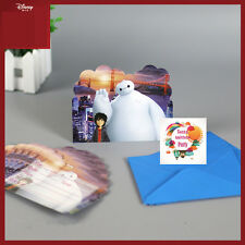 12 Big Hero 6 Baymax Disney Marvel Birthday Party SupplyDecor Invitation Cards