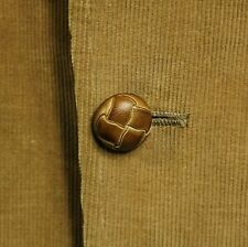 Vintage Corduroy Jacket Mens 40R Elbow Patches Leather Buttons Blazer Sport Coat