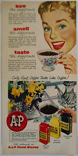 1954 vintage AD Eight O'Clock Coffee A&P Food Stores