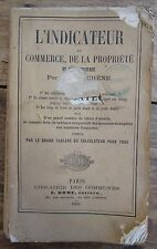 L'INDICATEUR DU COMMERCE DE LA PROPRIETE ET DE L'INDUSTRIE 1864 ARPENTAGE