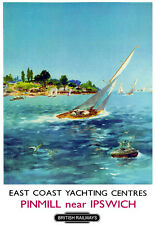 East Coast Yachting Centres Panmill near Ipswich Train Rail Travel  Poster Print