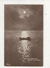 Boating By Moonlight Weston Super Mare [P427] 1917 Postcard 306b