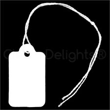 "1000 Mini Price Tags - 3/4"" x 1/2"" - White Jewelry Tags - String Display Tag"