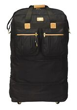 """40"""" Black Large Rolling Wheel Duffel Bag Spinner Suitcase Luggage Expandable NEW"""
